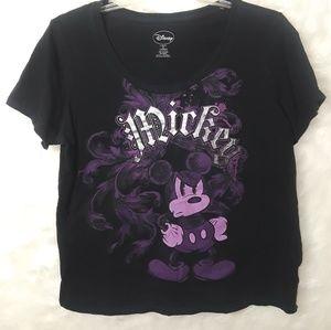 Disney Mickey Mouse Black Tshirt